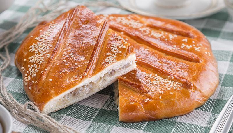 Пирог дрожжевой с капустой пошагово с