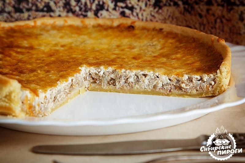 Пирог с сайрой рецепт с жидкое тесто