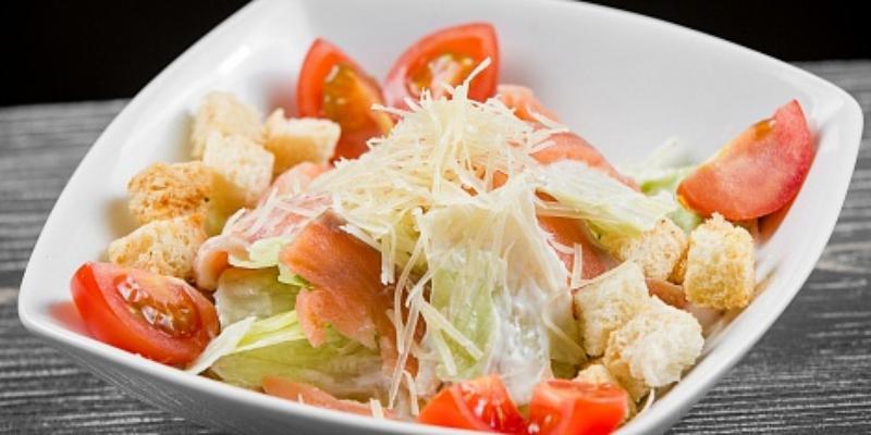 Калорийность салата цезарь без сухариков