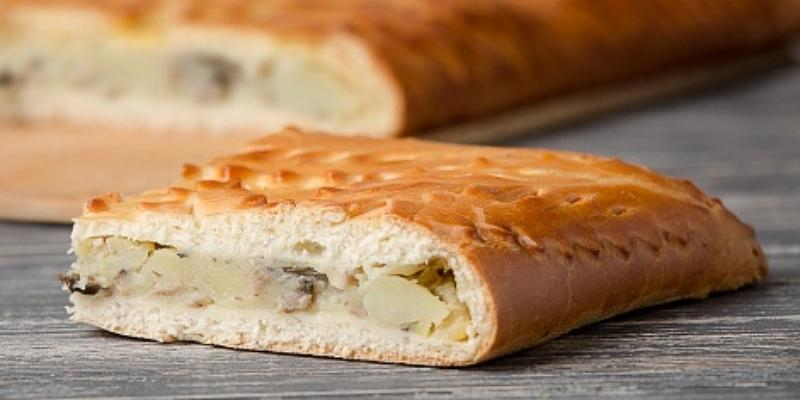 Пирог с грибами из дрожжевого теста в духовке рецепт с
