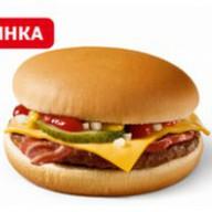 Чизбургер с беконом Фото