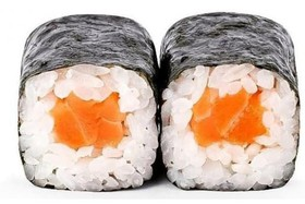 Острый ролл с лососем - Фото