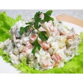 Оливье постный салат - Фото
