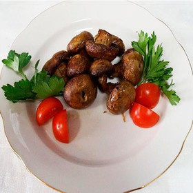 Грибы шампиньоны в соевом соусе - Фото