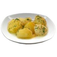 Картофель отварной со сливочным маслом Фото
