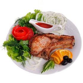 Корейка свиная на кости в соевом соусе - Фото