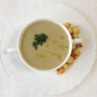 Суп-пюре грибной с сухариками Фото