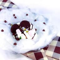 Мороженое с сахарной ватой Фото