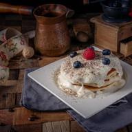 Панкейк с белым шоколадом Фото