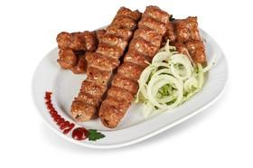 Люля-кебаб из курицы с грецким орехом - Фото