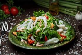 Теплый салат Морской - Фото