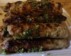 Люля-кебаб из говядины с чесноком - Фото