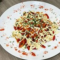Куриный салат с корейской морковью Фото