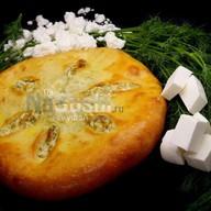 Пирог с творогом и сыром Фото