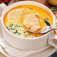 Суп сливочный с семгой Фото