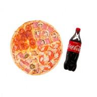 Комбо пицца 4 вкуса и Кока-Кола Фото