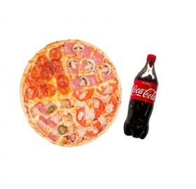 Комбо пицца 4 вкуса и Кока-Кола - Фото