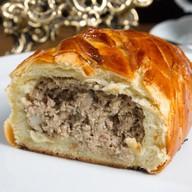 Кулебяка с мясом Фото