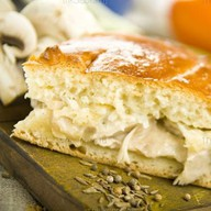 Пирог с картофелем и мясом (свинина) Фото