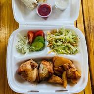 Бизнес-ланч с куриной грудкой Фото