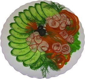 Нарезка овощная - Фото