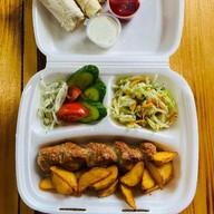 Бизнес-ланч с люля-кебаб куриный Фото