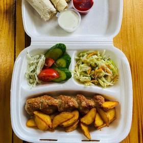 Бизнес-ланч люля-кебаб баранина-говядина - Фото