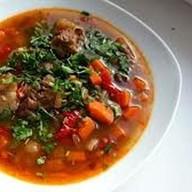 Суп с бараниной и красной фасолью Фото