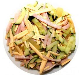 Салат Купеческий с салями - Фото