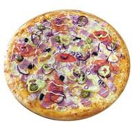 Пицца с грудинкой и ветчиной Фото