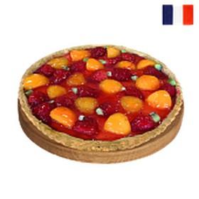 Тарт с клубникой и персиками (за сутки) - Фото