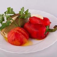 Овощи (помидор, баклажан, перец) Фото