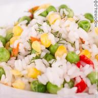 Рис по-гавайски с овощами Фото