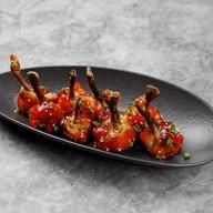 Крылья цыпленка в соусе барбекью Фото
