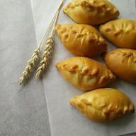 Фуршетные мини-пирожки с луком и яйцом Фото