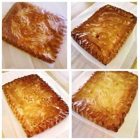 Сытный сет (слоеное тесто) - Фото