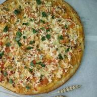 Пицца с копченой курочкой Фото
