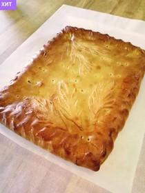 Пирог со свежей капустой и яйцом - Фото