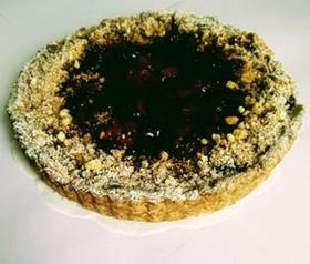 Пирог с брусникой на песочном тесте - Фото