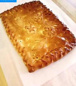 Пирог с картофелем и беконом - Фото