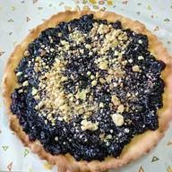 Пирог с черникой на песоном тесте Фото