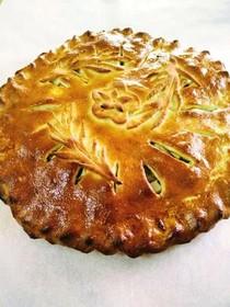 Пирог с яблоком и морковью - Фото