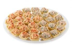 Тарталетки с салатом Дипломат - Фото