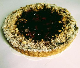 Пирог из клубники на песочном тесте - Фото