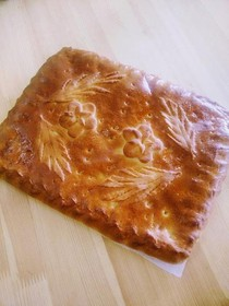 Пирог с мясом и рисом - Фото