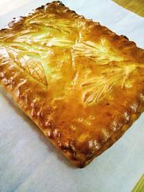Пирог с зеленым луком, яйцом и рисом - Фото
