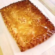 Пирог с курицей, грибами и картофелем Фото