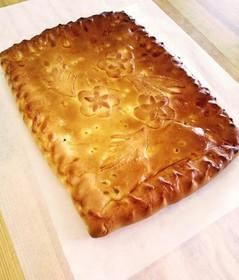 Пирог с курицей, грибами и картофелем - Фото
