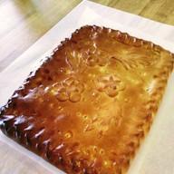 Постный пирог с рисом и грибами Фото