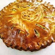 Пирог с яблоками и брусникой Фото
